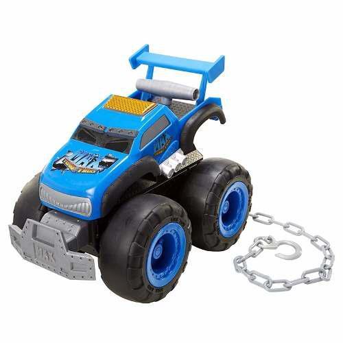 Camioneta gigante de remolque max tow truck azul muy fuerte