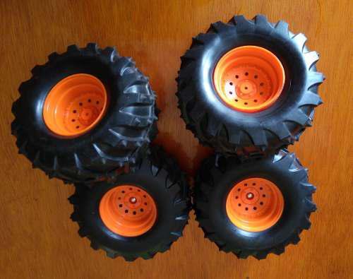 Llantas naranja auto camioneta de radio control remoto rc