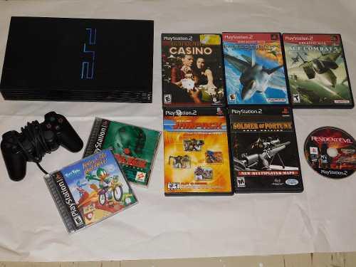 Consola ps2, juegos metal gear vr, resident evil, ace combat