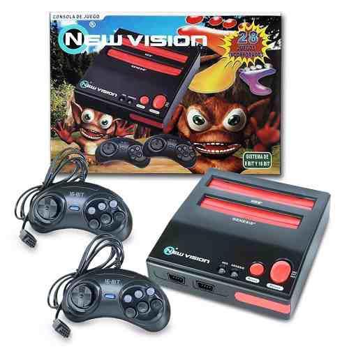 Consola retro 28 juegos incluidos retrocompatible nes sega