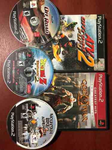 Juegos Ps2 God Of War, Dragon Ball Z, Atv, Etc