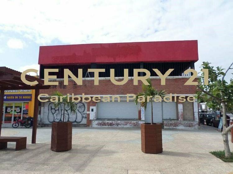 Local comercial en renta cancun zona centro 450m2 c2400 /