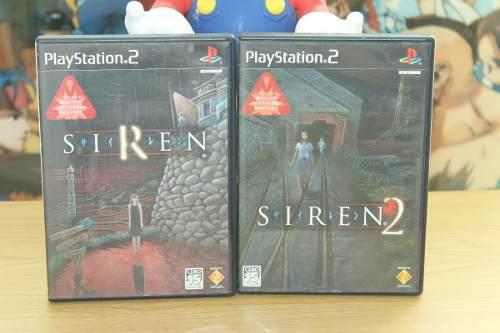 Siren y siren 2 playstation 2 completos japones no resident