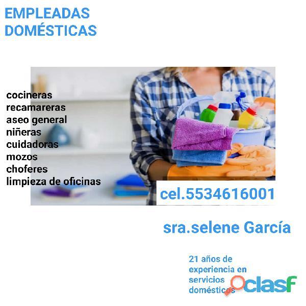 Empleadas domésticas confiables y garantizadas