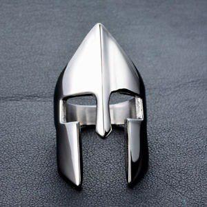 Anillo casco espartano leonidas 300 yelmo guerrero gladiador