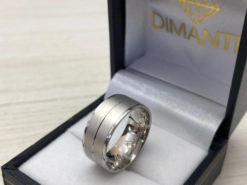 aaf157fff064 Anillo de boda oro blanco 10k 8mm ancho 1 pieza envío