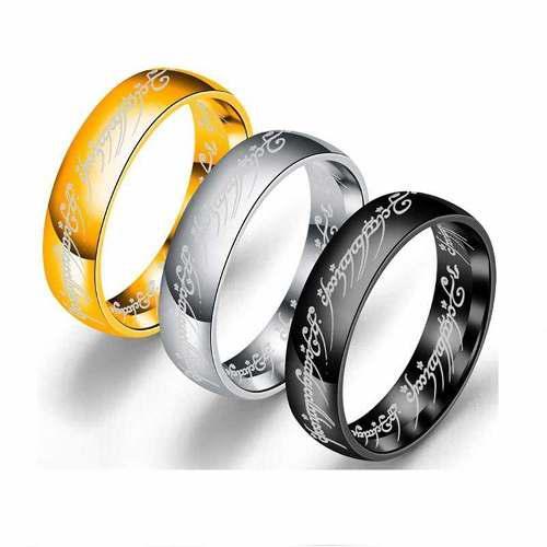 Anillo señor de los anillos acero inoxidable calidad