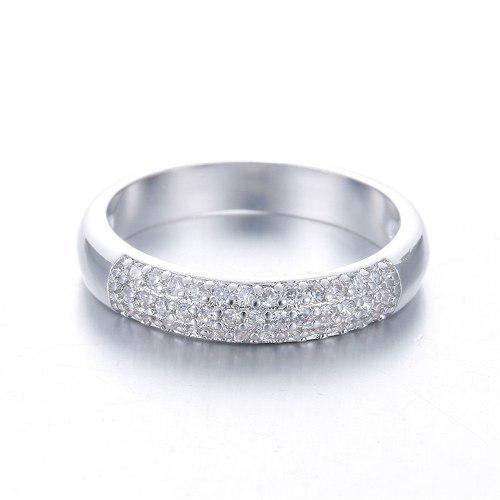 Anillos compromiso cristales zirconia plata laminada 925