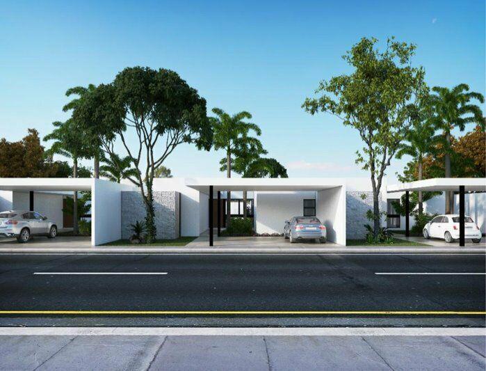 Casas de lujo de una planta en residencial alura, cholul