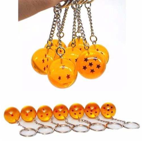 Dragon ball z set de 7 llaveros esferas del dragon goku dbz