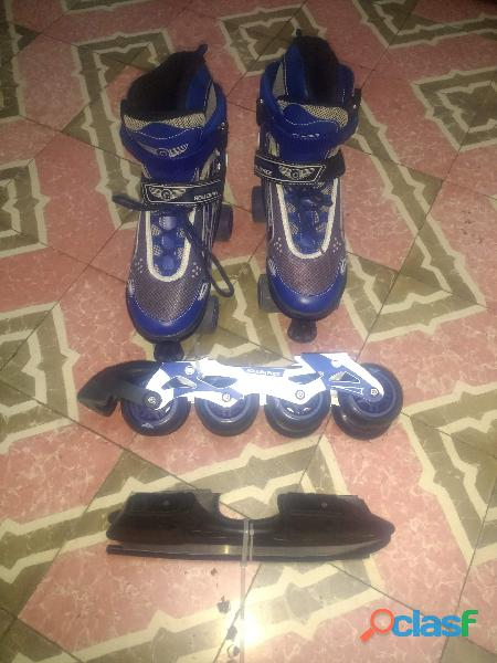 Patines roller face profesionales 3 en 1