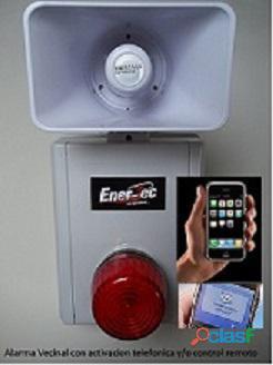 Alarma vecinal inteligente marca ener tec modelo neo