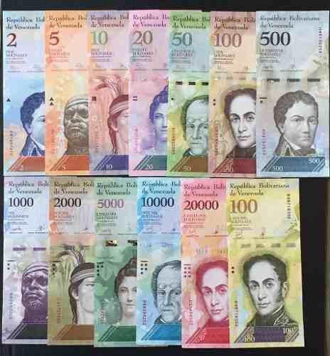 Colección completa de billetes de venezuela