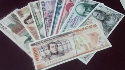 Coleccion 9 billetes sin circular!!! $5.00 a $5 mil c/envio