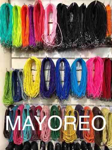 Lote 300 cordones para collares, varios colores, mayoreo