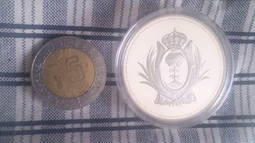 Moneda 1 onza plata pura proof con el escudo de durango