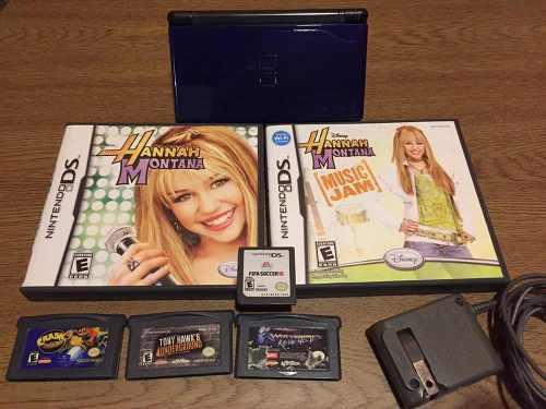 Nintendo ds lite + 3 juegos ds + 3 juegos game boy