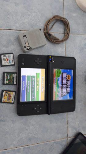 Nintendo ds xl con 4 juegos