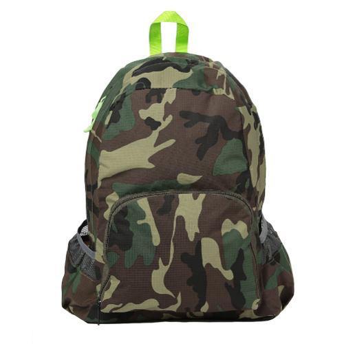 Nueva mochila casual camuflaje verde para estudiante viaje