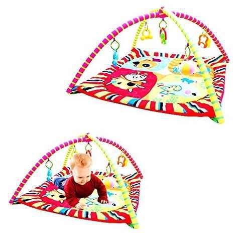 Juego de juguete cubby adorable bebé gimnasio mat y 5