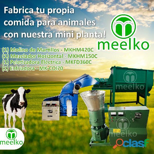 Sistema para elaborar pellets mkfd360c