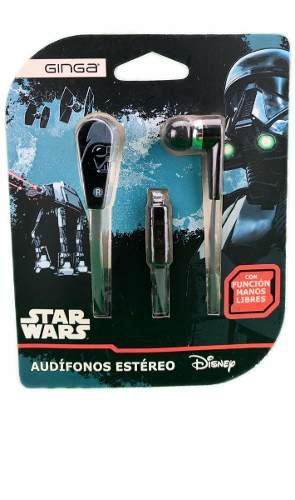 Audífonos estéreo manos libres star wars disney darth