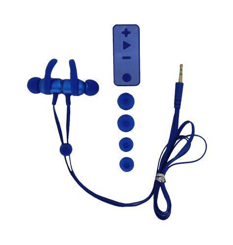 Manos Libres 3.5 Audifonos Boyi By-13 Bluetooth Azules