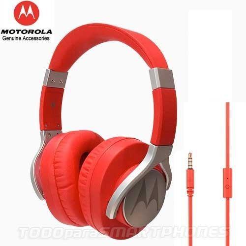Manos libres motorola pulse max rojo 3.5mm audifonos stereo