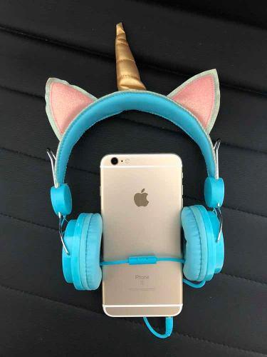 Unicornio audifonos hermosa diadema manos libres aux 3.5