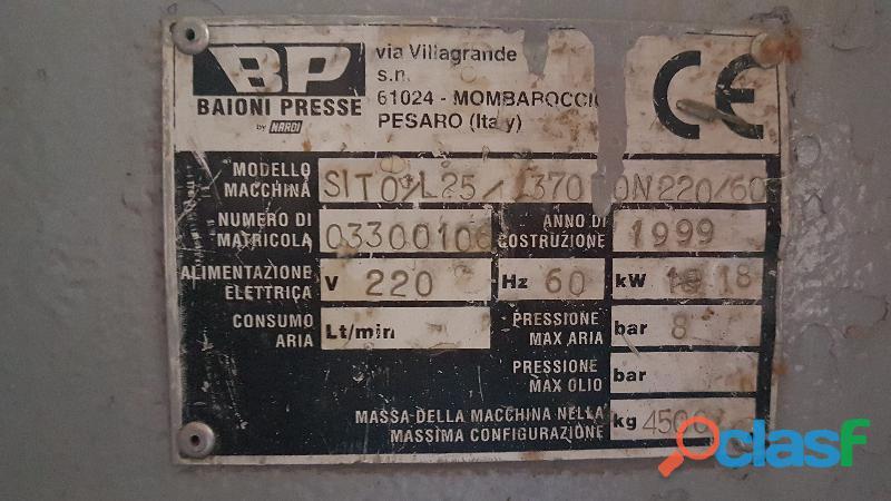 Prensa de tableros de madera Nardi Sito L Listonados 6