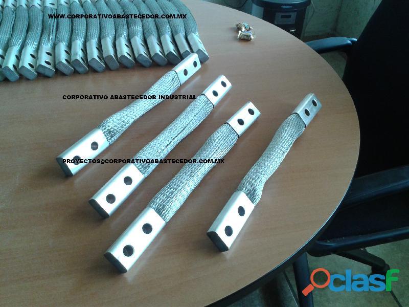 trenza flexible de aluminio.