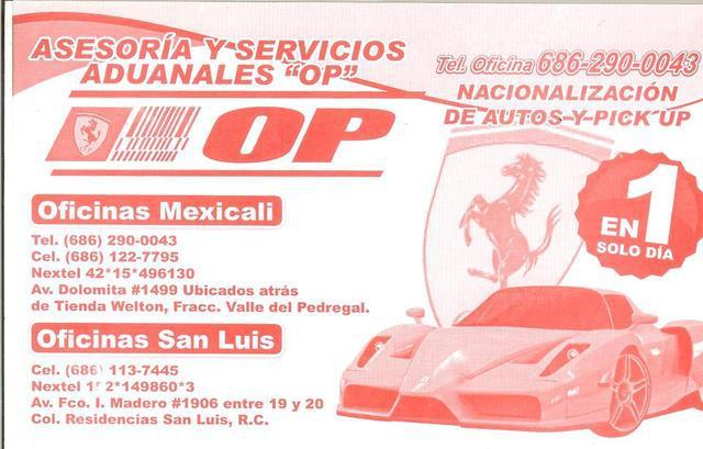 """Asesoria y servicios aduanales """"op"""""""