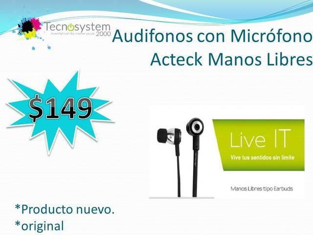 Audifonos con micrófono acteck manos libres