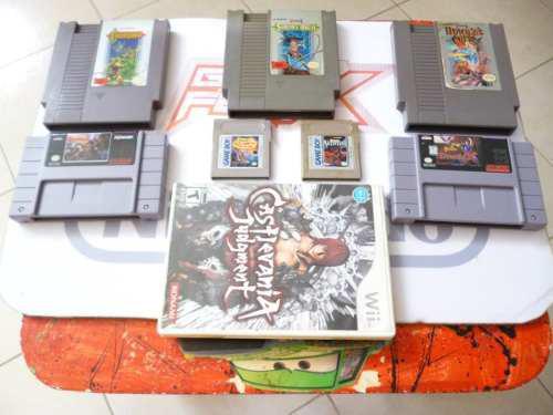 Colección 8 juegos castlevania nes gb snes game fenix 4,850