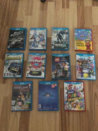 Consola wii u con 4 controles y 11 juegos + consola infinity