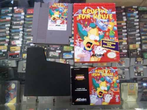 Krusty's super fun house protector,caja,manual nintendo nes