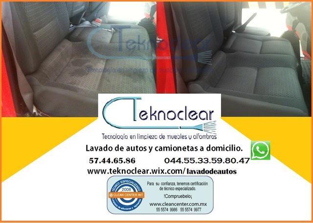 Lavado de vestiduras y cielo de autos en nezahualcóyotl.,