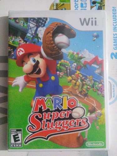 Mario super sluggers wii nuevo sellado nintendo baseball