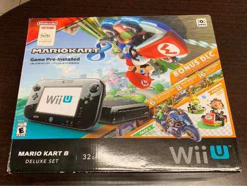 Nintendo wii u 32 gb mario kart deluxe set y zelda bw