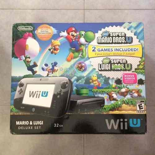 Nintendo wii u new súper mario bros u deluxe set 32 gb