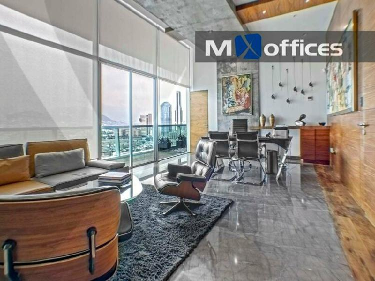 Oficina amueblada en renta en un ph de 430m² en valle ote.