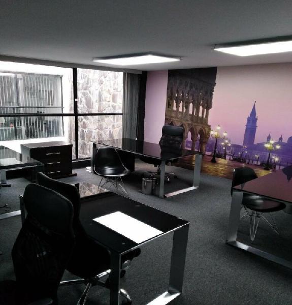 Oficina de lujo con servicios incluidos, amueblada chapalita