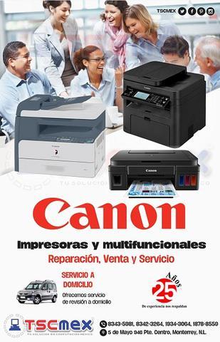 Reparacion y mantenimiento a impresoras canon