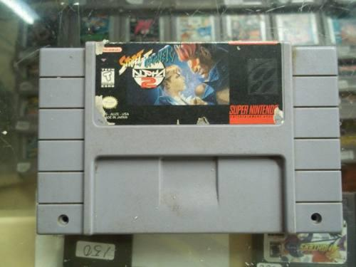 Street fighter alpha 2 super nintendo snes super nes