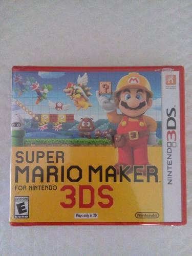Super mario maker 3ds nuevo sellado nintendo envio gratis