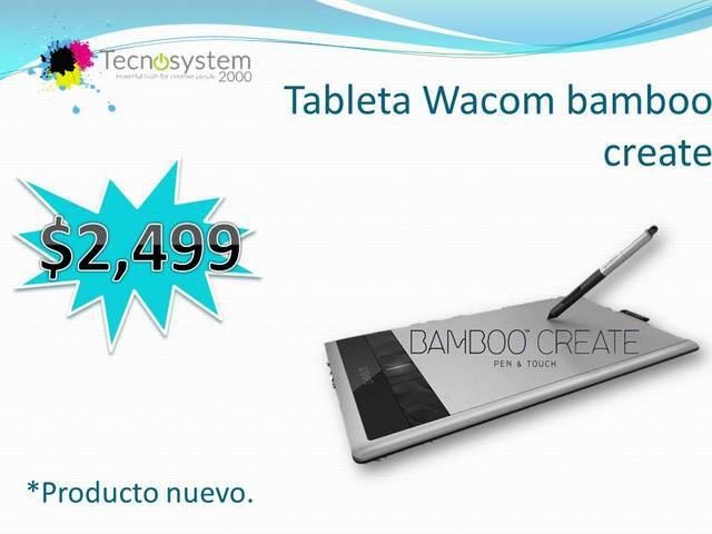 TABLETA WACOM BAMBOO CREATE segunda mano  Guadalajara (Jalisco)