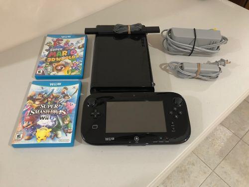 Wii u con gamepad y 2 juegos game pad envío gratis