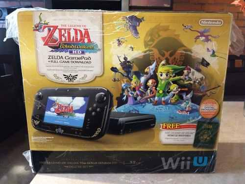 Wii u consola zelda edición especial wind waker con juego
