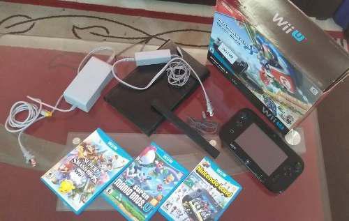 Wii u mario kart 8 deluxe set de 32 gb 3 juegos barra sensor