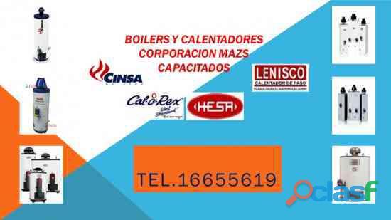 CALENTADORES Y BOILERS INDUSTRIALES Y DOMÉSTICOS,CINSA,CALO REX,HESA,